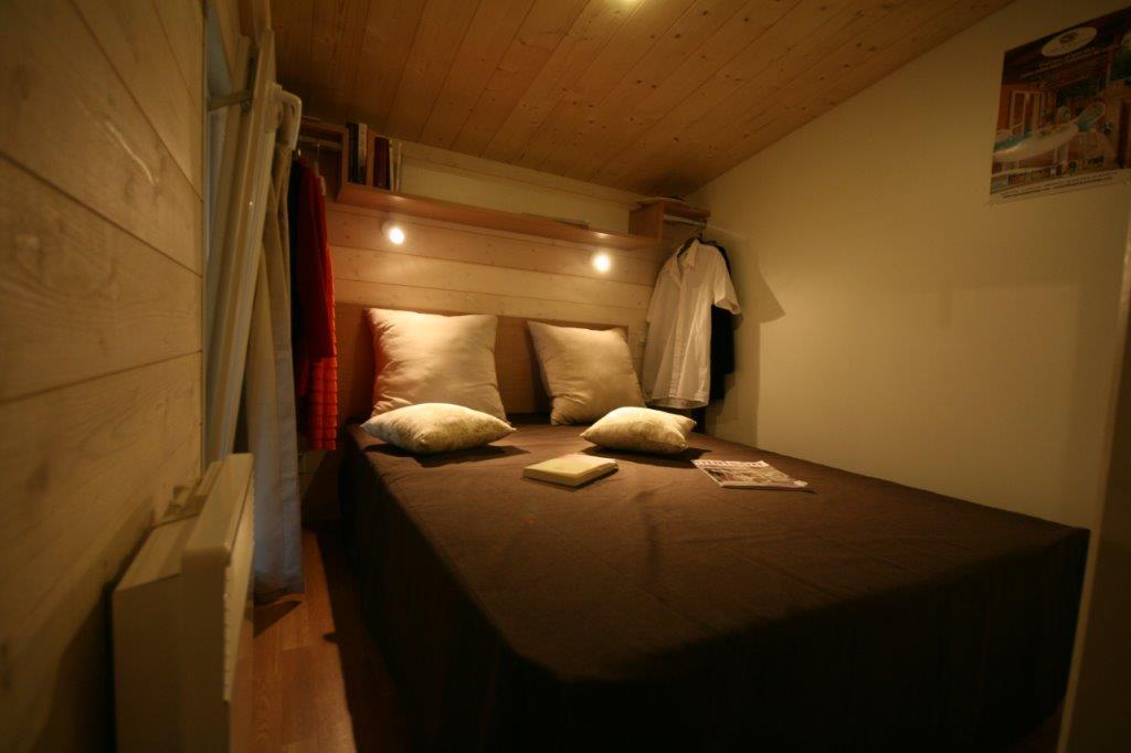 chambre du chalet en location);