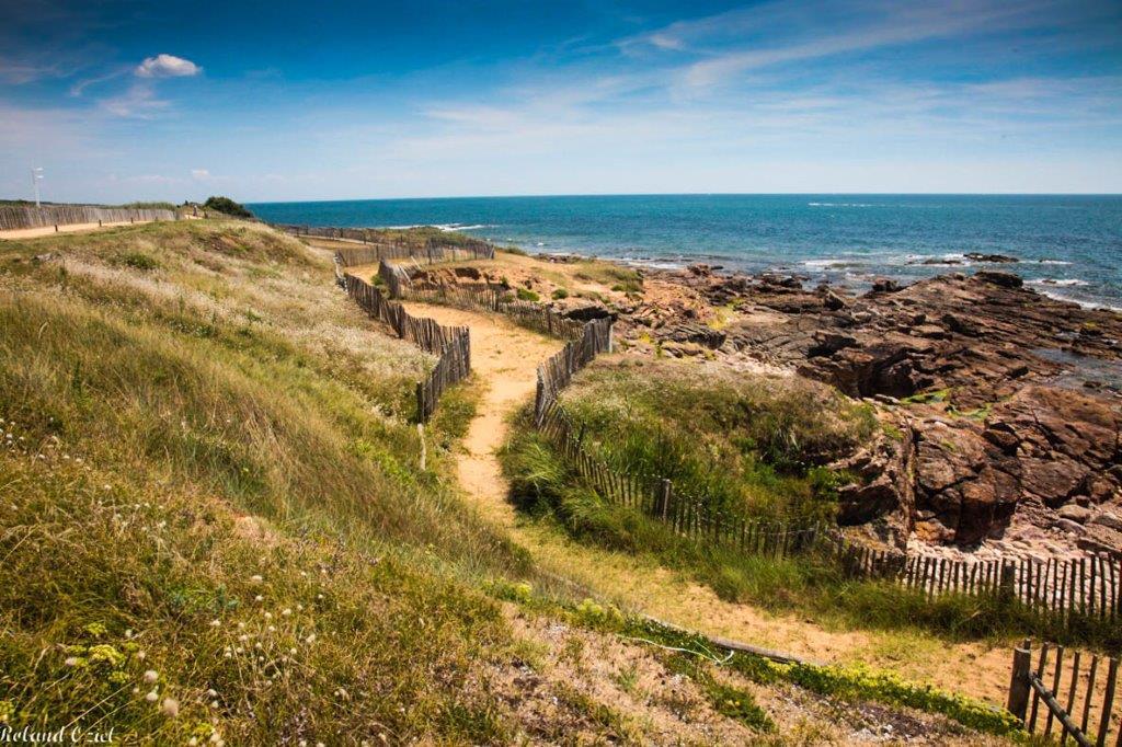 Chemin accès plage les Sables d'Olonne