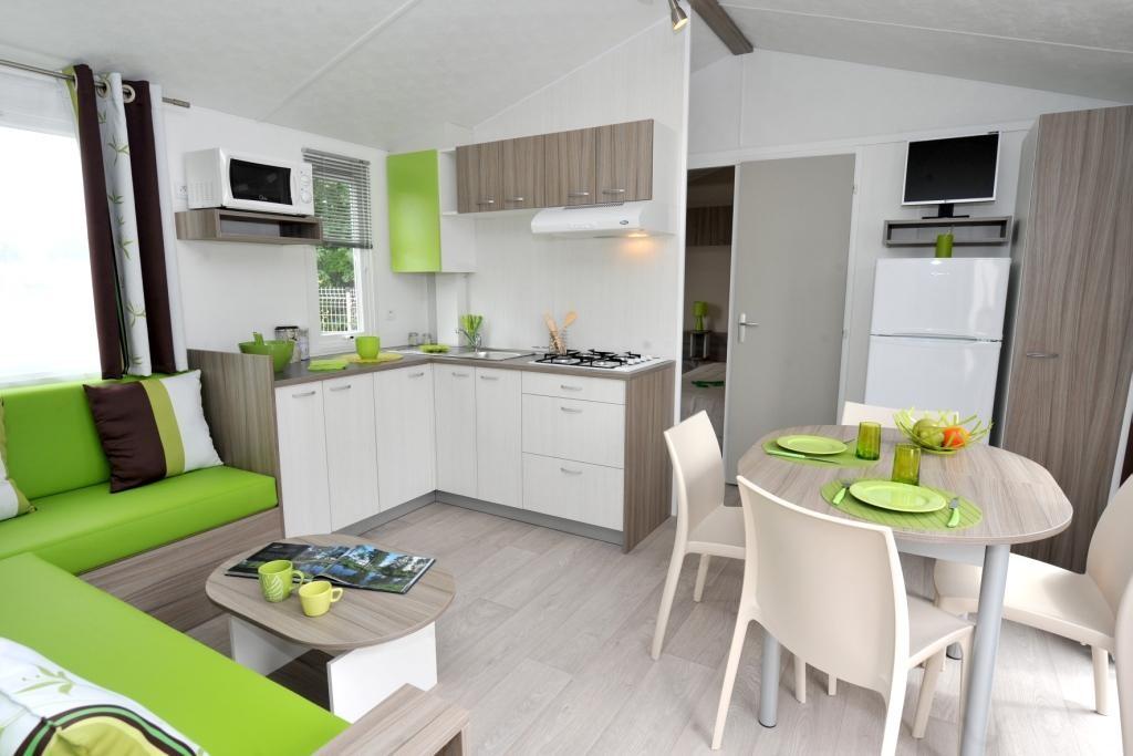 intérieur mobil home moderne 3 étoiles);