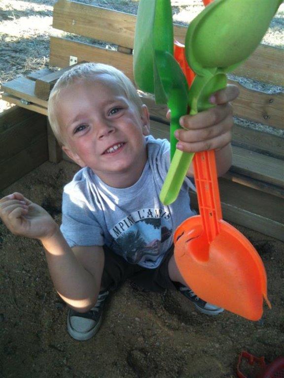 bac à sables pour les enfants