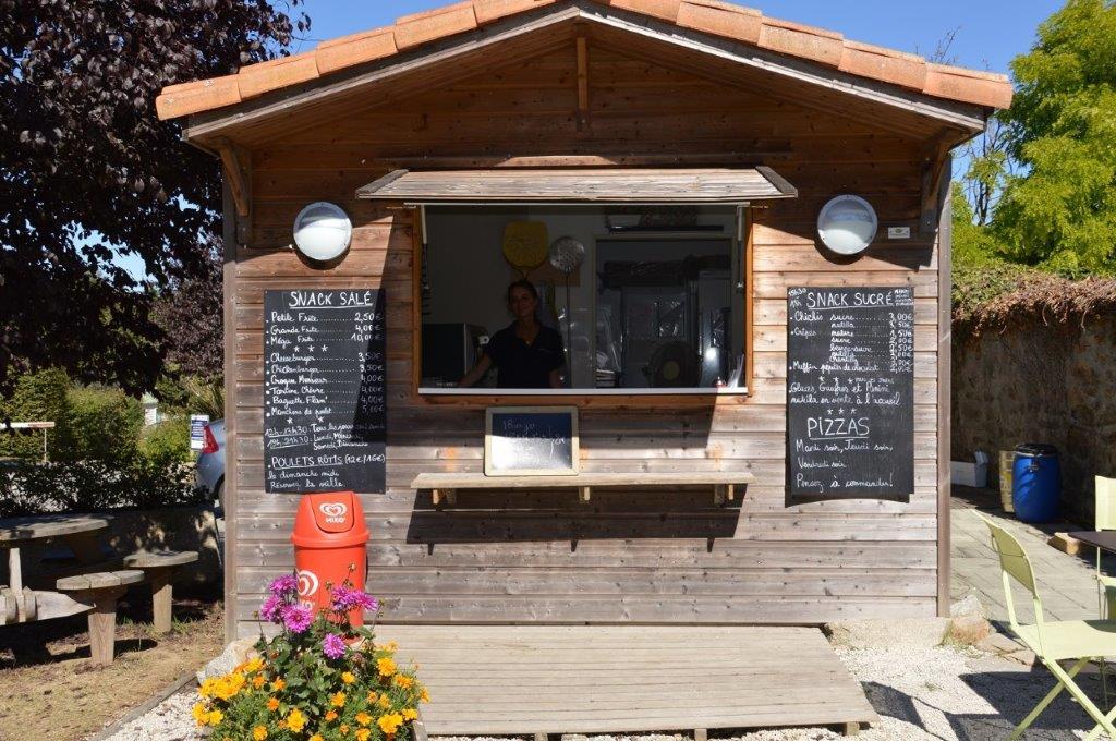 snack du camping 3 étoiles en Vendée