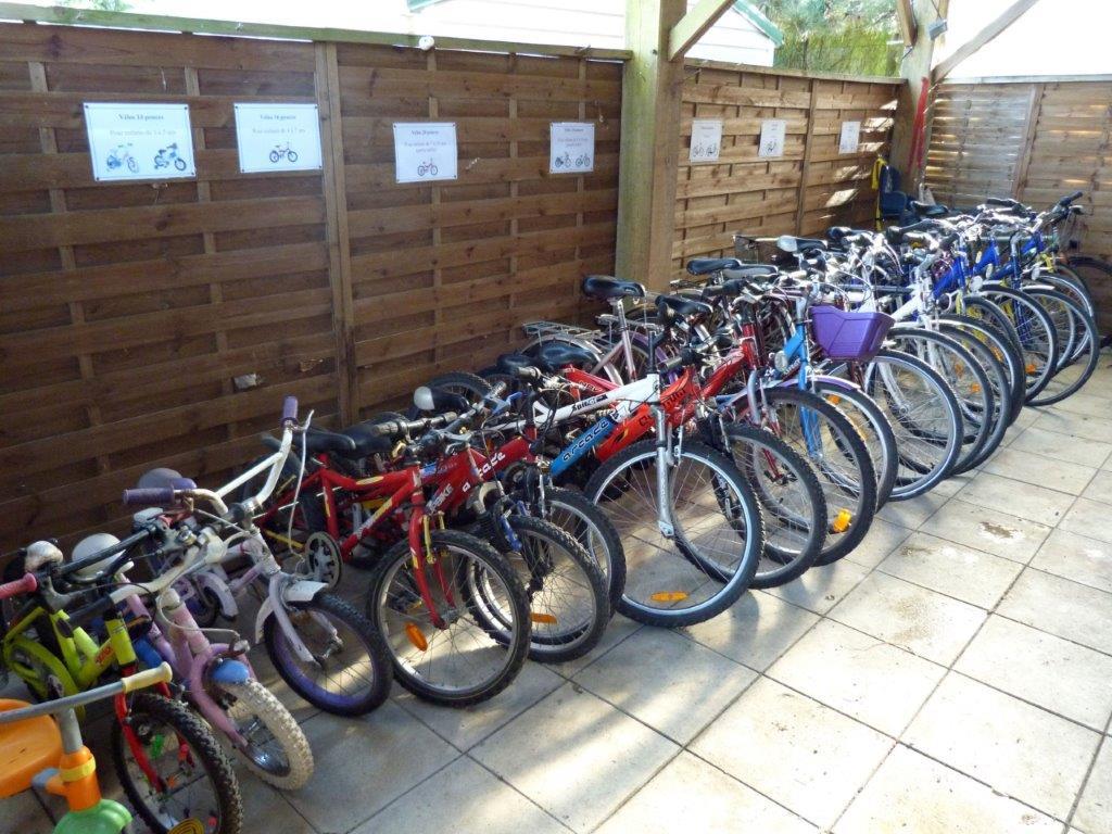 vélos en location au camping l'Ambois