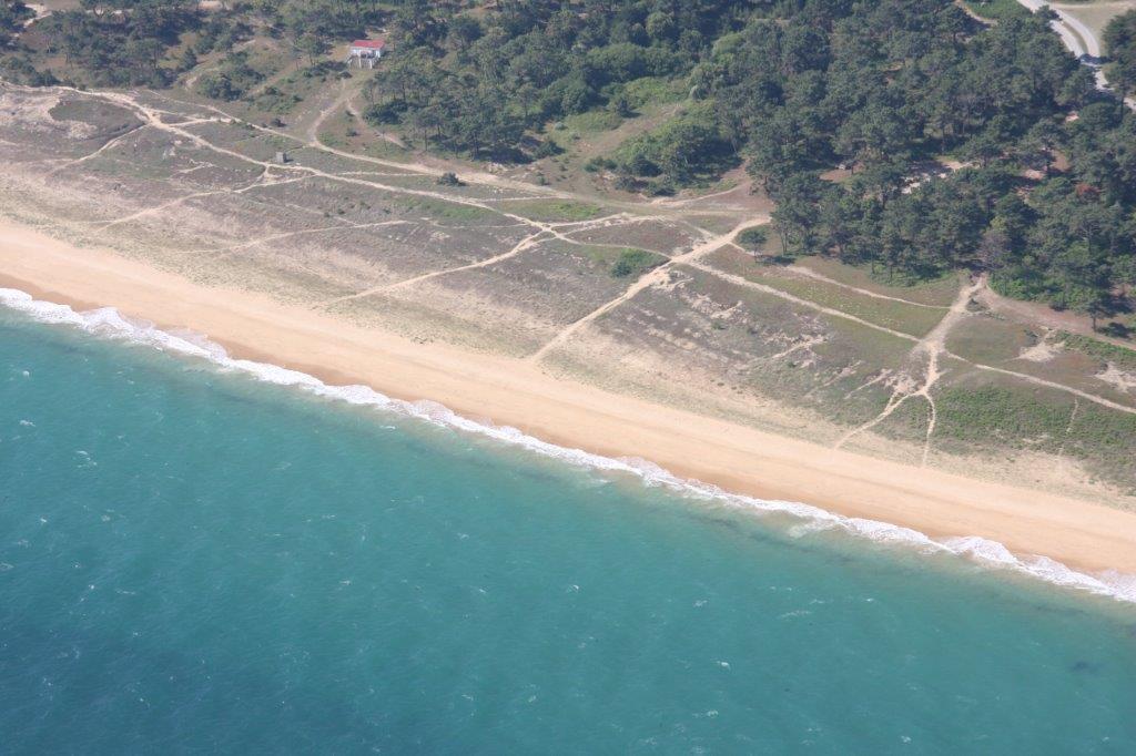 Vue des plages de l'ile d'Yeu