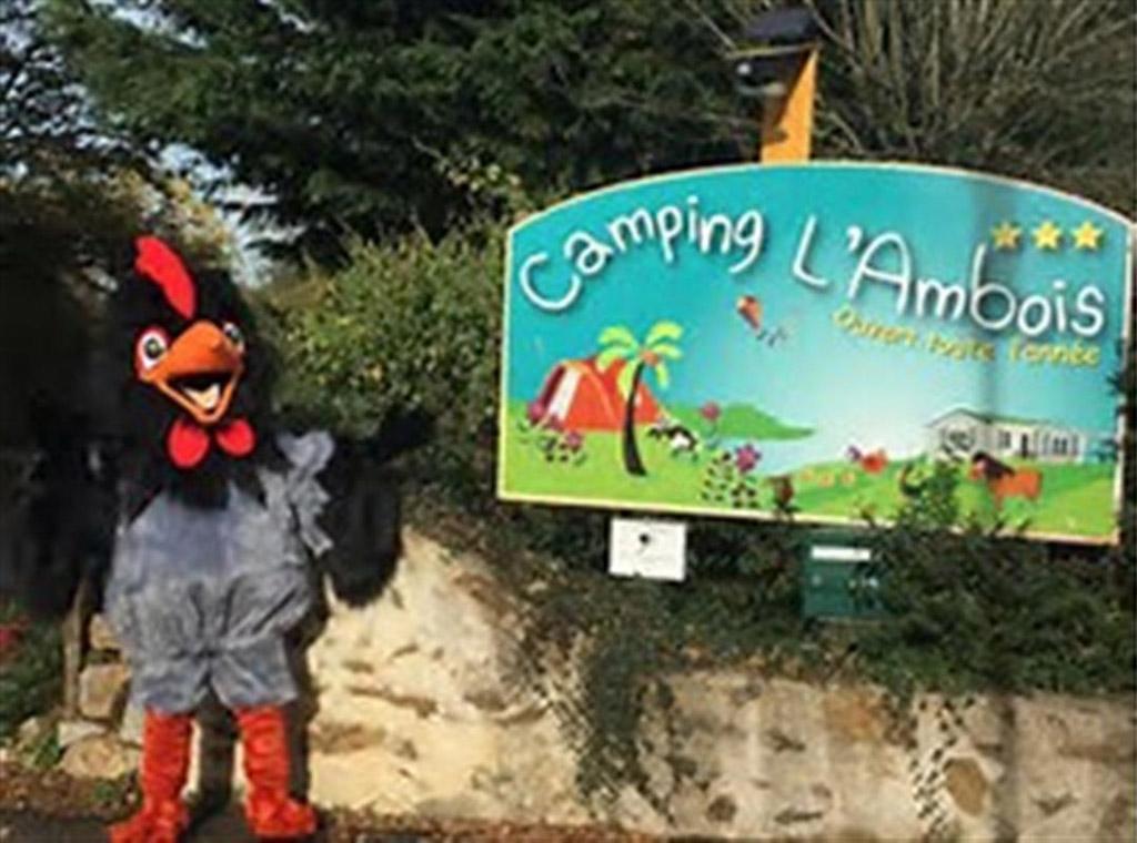mascotte du camping 3 étoiles à la Roche sur Yon